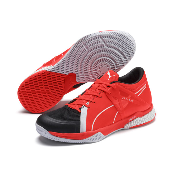 Explode XT Hybrid 2 Trainers, Black-Puma White-Nrgy Red, large