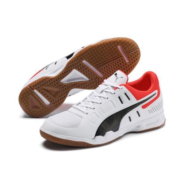 Auriz Indoor Sport Men's Trainers, White-Black-Nrgy Red-Gum, large