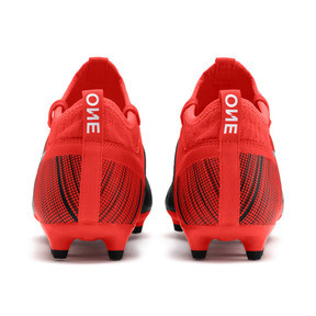 Thumbnail 4 of PUMA ONE 5.3 FG/AG Men's Soccer Cleats, Black-Nrgy Red-Aged Silver, medium