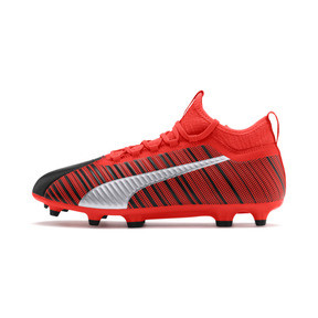 Thumbnail 1 of PUMA ONE 5.3 FG/AG Men's Soccer Cleats, Black-Nrgy Red-Aged Silver, medium