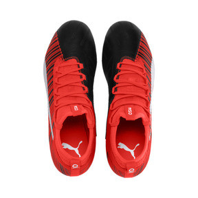 Thumbnail 7 of PUMA ONE 5.3 FG/AG Men's Soccer Cleats, Black-Nrgy Red-Aged Silver, medium