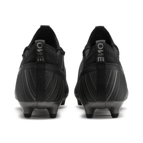 Thumbnail 4 of PUMA ONE 5.3 FG/AG Men's Soccer Cleats, Black-Black-Puma Aged Silver, medium