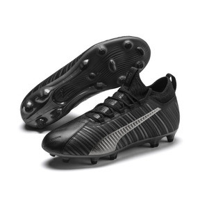 Thumbnail 3 of PUMA ONE 5.3 FG/AG Men's Soccer Cleats, Black-Black-Puma Aged Silver, medium