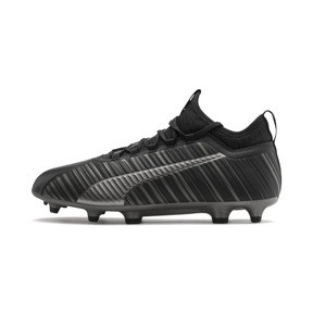 Thumbnail 1 of PUMA ONE 5.3 FG/AG Men's Soccer Cleats, Black-Black-Puma Aged Silver, medium