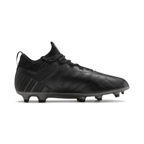 Thumbnail 6 of PUMA ONE 5.3 FG/AG Men's Soccer Cleats, Black-Black-Puma Aged Silver, medium