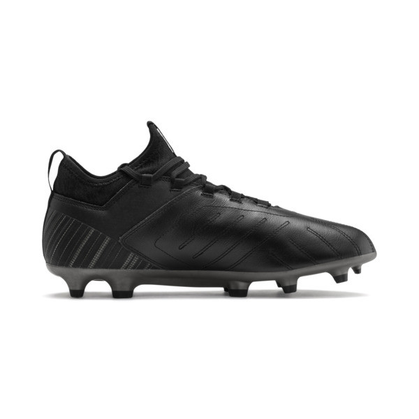 PUMA ONE 5.3 FG/AG Men's Soccer Cleats, Black-Black-Puma Aged Silver, large