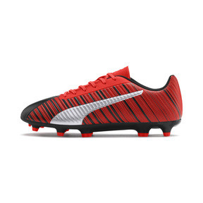 Thumbnail 1 of PUMA ONE 5.4 FG/AG Men's Soccer Cleats, Black-Nrgy Red-Aged Silver, medium