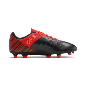 Thumbnail 6 of PUMA ONE 5.4 FG/AG Men's Soccer Cleats, Black-Nrgy Red-Aged Silver, medium