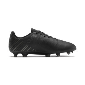 Thumbnail 6 of PUMA ONE 5.4 FG/AG Men's Soccer Cleats, Black-Black-Puma Aged Silver, medium