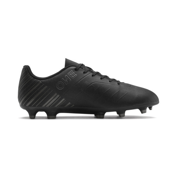PUMA ONE 5.4 FG/AG Men's Soccer Cleats, Black-Black-Puma Aged Silver, large