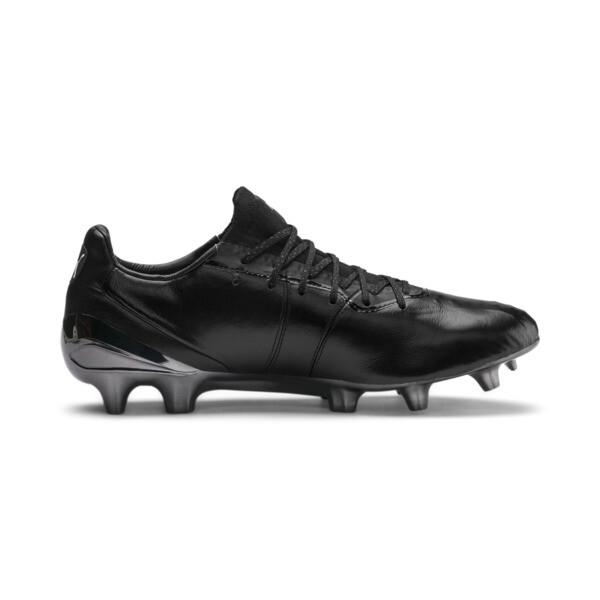 King Platinum FG/AG Men's Soccer Cleats, Puma Black-Puma White, large