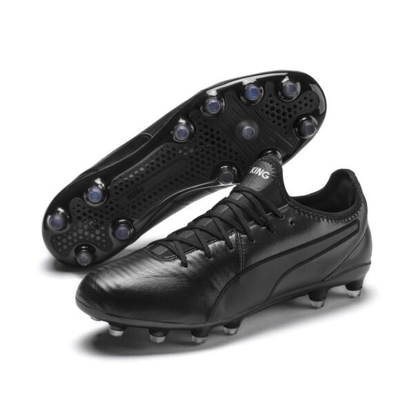 KING Pro FG Football Boots, Puma Black-Puma White, large