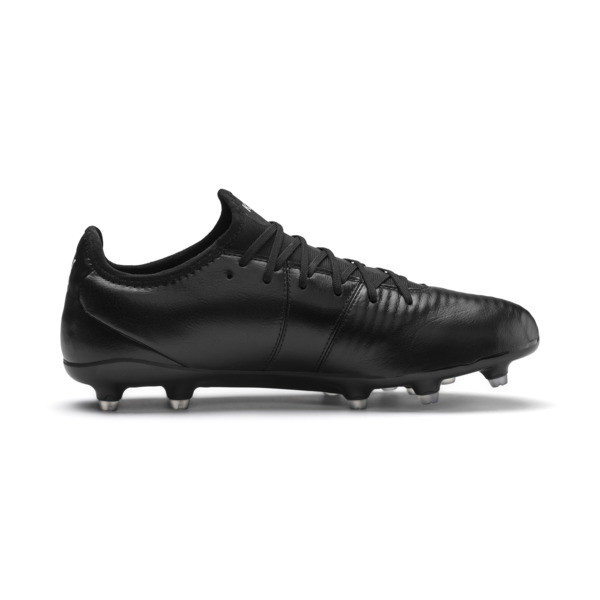 King Pro FG Soccer Cleats, Puma Black-Puma White, large