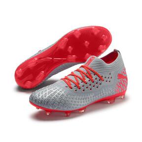Thumbnail 3 of FUTURE 4.2 NETFIT FG/AG Men's Soccer Cleats, Glacial Blue-Nrgy Red, medium