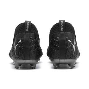 Thumbnail 4 of FUTURE 4.2 NETFIT FG/AG Men's Soccer Cleats, Black-Black-Puma Aged Silver, medium