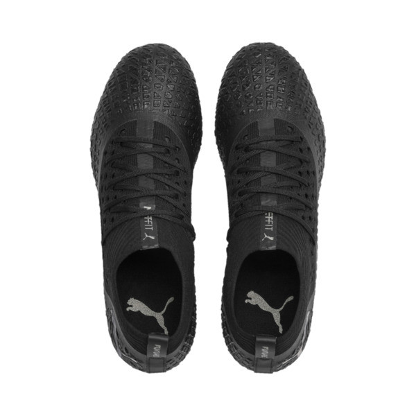 FUTURE 4.2 NETFIT FG/AG Men's Soccer Cleats, Black-Black-Puma Aged Silver, large