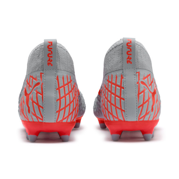 FUTURE 4.3 NETFIT FG/AG Men's Soccer Cleats, Glacial Blue-Nrgy Red, large