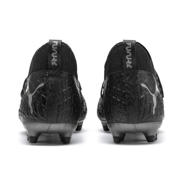 FUTURE 4.3 NETFIT FG/AG Men's Soccer Cleats, Black-Black-Puma Aged Silver, large