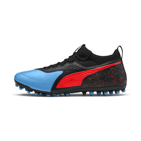 Thumbnail 1 of PUMA ONE 19.3 MG Men's Football Boots, Bleu Azur-Red Blast-Black, medium