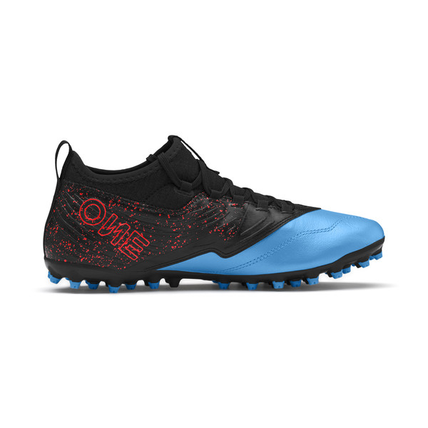 PUMA ONE 19.3 MG Men's Football Boots, Bleu Azur-Red Blast-Black, large
