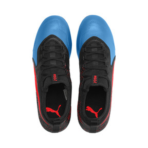 Thumbnail 6 of PUMA ONE 19.3 MG Men's Football Boots, Bleu Azur-Red Blast-Black, medium
