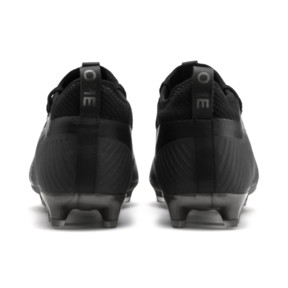 Thumbnail 4 of PUMA ONE 5.2 FG/AG Men's Soccer Cleats, Black-Black-Puma Aged Silver, medium