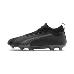 Thumbnail 1 of PUMA ONE 5.2 FG/AG Men's Soccer Cleats, Black-Black-Puma Aged Silver, medium