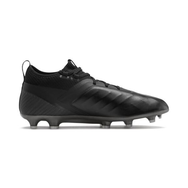 PUMA ONE 5.2 FG/AG Men's Soccer Cleats, Black-Black-Puma Aged Silver, large
