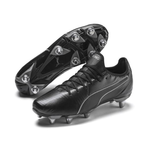 Botas de rugby de hombre KING Pro H8, Puma Black-Puma Aged Silver, grande