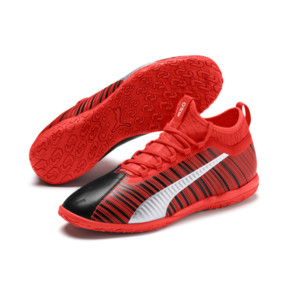 Thumbnail 3 of PUMA ONE 5.3 IT Men's Soccer Shoes, Black-Nrgy Red-Aged Silver, medium