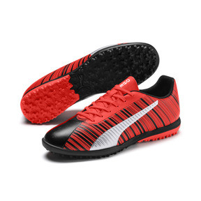 Thumbnail 3 of PUMA ONE 5.4 TT Men's Soccer Shoes, Black-Nrgy Red-Aged Silver, medium
