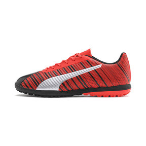 Thumbnail 1 of PUMA ONE 5.4 TT Men's Soccer Shoes, Black-Nrgy Red-Aged Silver, medium