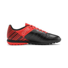 Thumbnail 6 of PUMA ONE 5.4 TT Men's Soccer Shoes, Black-Nrgy Red-Aged Silver, medium