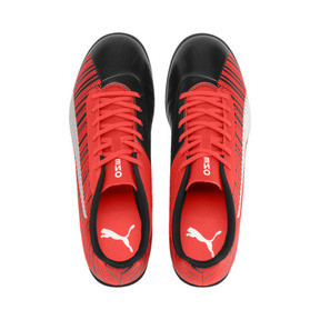 Thumbnail 7 of PUMA ONE 5.4 TT Men's Soccer Shoes, Black-Nrgy Red-Aged Silver, medium
