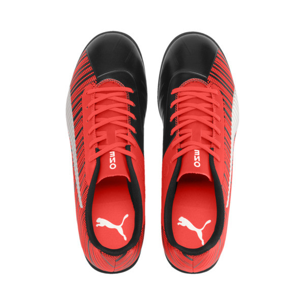 PUMA ONE 5.4 TT Men's Soccer Shoes, Black-Nrgy Red-Aged Silver, large