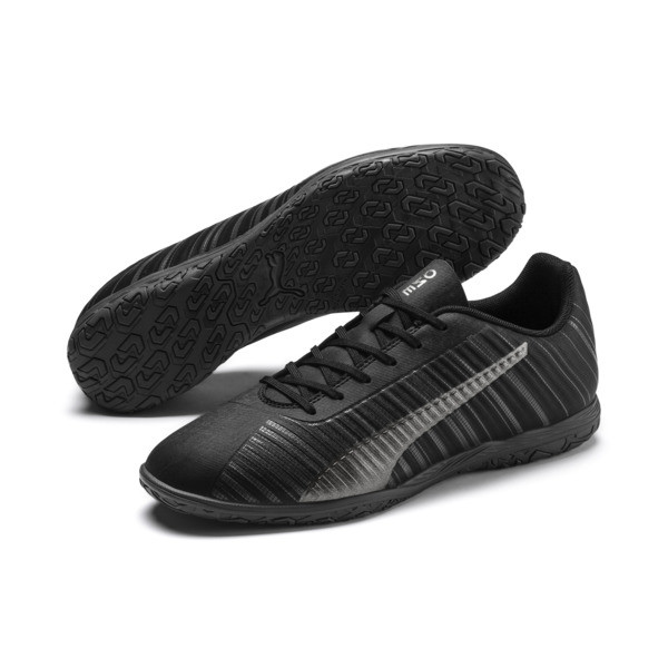 PUMA ONE 5.4 IT Men's Soccer Shoes, Black-Black-Puma Aged Silver, large
