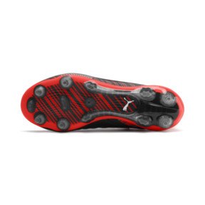 Thumbnail 4 of PUMA ONE 5.1 FG/AG Soccer Cleats JR, Black-Nrgy Red-Aged Silver, medium