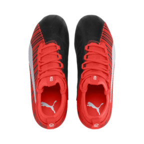 Thumbnail 6 of PUMA ONE 5.3 FG/AG Soccer Cleats JR, Black-Nrgy Red-Aged Silver, medium