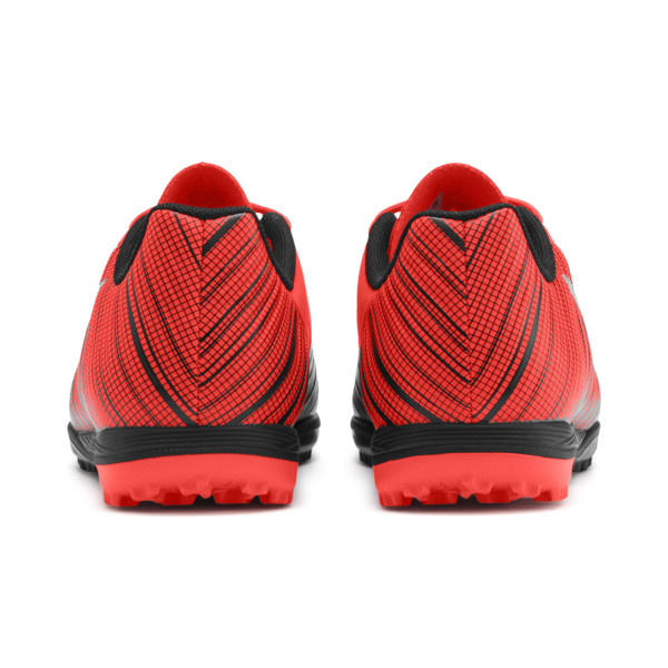 PUMA ONE 5.4 TT Soccer Shoes JR, Black-Nrgy Red-Aged Silver, large