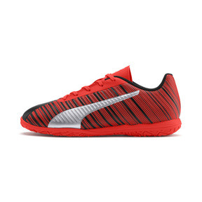 Thumbnail 1 of PUMA ONE 5.4 IT Soccer Shoes JR, Black-Nrgy Red-Aged Silver, medium