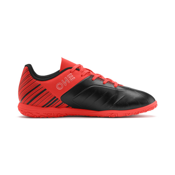 PUMA ONE 5.4 IT Soccer Shoes JR, Black-Nrgy Red-Aged Silver, large