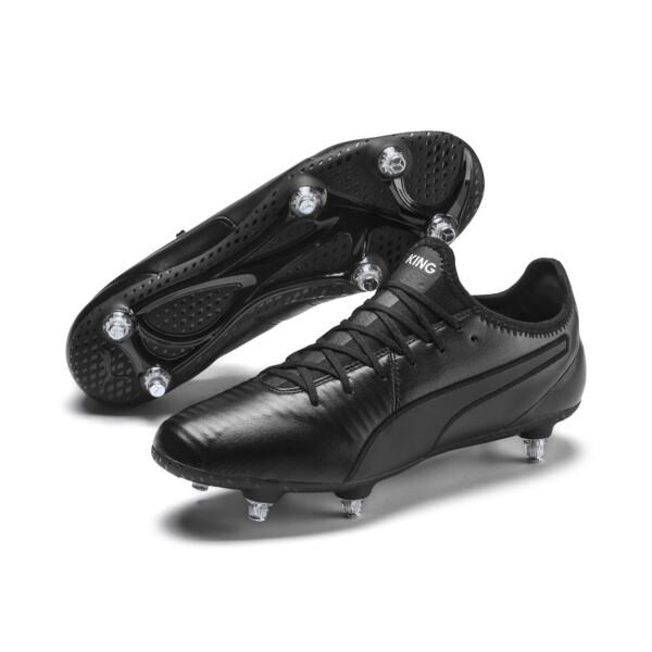 KING SG Men's Football Boots, Puma Black-Puma White, large