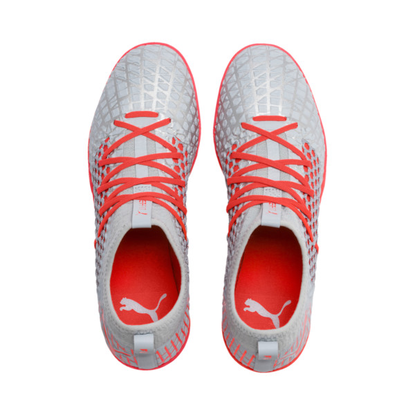 FUTURE 4.3 NETFIT TT Men's Soccer Shoes, Glacial Blue-Nrgy Red, large