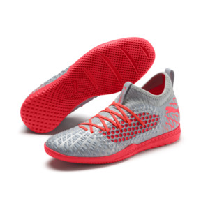 Thumbnail 3 of FUTURE 4.3 NETFIT IT Men's Soccer Shoes, Glacial Blue-Nrgy Red, medium