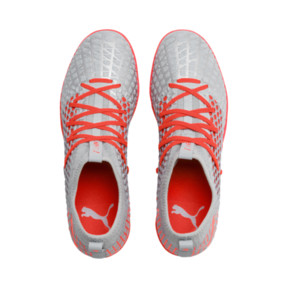 Thumbnail 7 of FUTURE 4.3 NETFIT IT Men's Soccer Shoes, Glacial Blue-Nrgy Red, medium