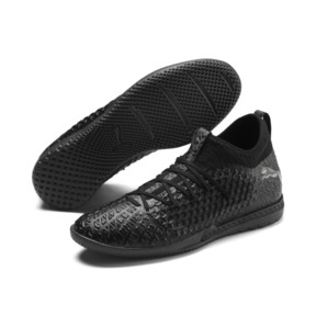 Thumbnail 3 of FUTURE 4.3 NETFIT IT Men's Soccer Shoes, Black-Black-Puma Aged Silver, medium