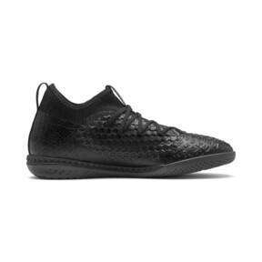 Thumbnail 6 of FUTURE 4.3 NETFIT IT Men's Soccer Shoes, Black-Black-Puma Aged Silver, medium