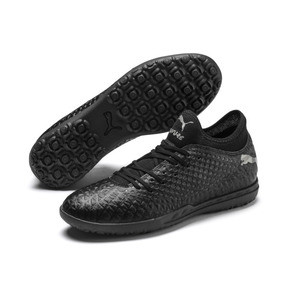 Thumbnail 3 of FUTURE 4.4 TT Men's Soccer Shoes, Black-Black-Puma Aged Silver, medium