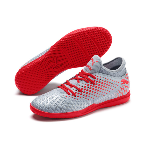 FUTURE 4.4 IT Men's Soccer Shoes, Glacial Blue-Nrgy Red, large