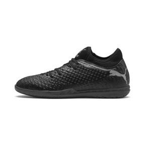 Thumbnail 1 of FUTURE 4.4 IT Men's Soccer Shoes, Black-Black-Puma Aged Silver, medium